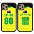 Personalized Australia Soccer Jersey Case for iPhone 11 Pro Max – Hybrid – (Black Case, Black Silicone)