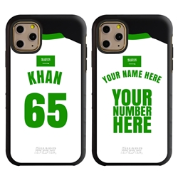 Personalized Saudi Arabia Soccer Jersey Case for iPhone 11 Pro Max – Hybrid – (Black Case, Black Silicone)