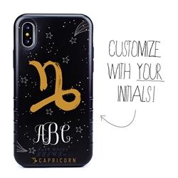 Zodiac Case for iPhone XS Max – Hybrid - Capricorn – Brushtroke - Personalized