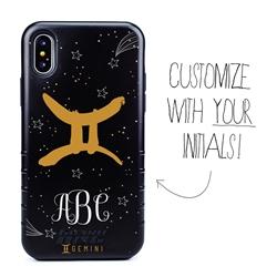 Zodiac Case for iPhone XS Max – Hybrid - Gemini – Brushtroke - Personalized