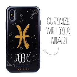 Zodiac Case for iPhone XS Max – Hybrid - Pisces – Brushtroke - Personalized