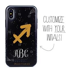 Zodiac Case for iPhone XS Max – Hybrid - Sagittarius – Brushtroke - Personalized