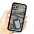 Military Case for iPhone 11 Pro – Hybrid - Silencer DogTag ABU Camo