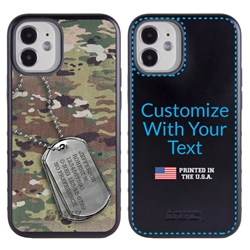 Military Case for iPhone 12 Mini – Hybrid - DogTag on Ops Camo