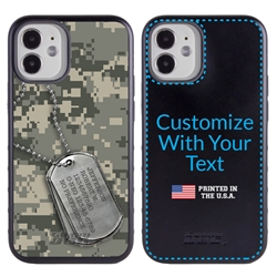 Military Case for iPhone 12 Mini – Hybrid - DogTag on UCP Camo