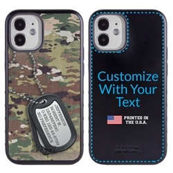 Military Case for iPhone 12 Mini – Hybrid - Silencer DogTag Ops Camo