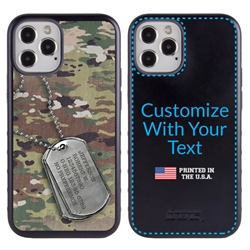 Military Case for iPhone 12 / 12 Pro – Hybrid - DogTag on Ops Camo