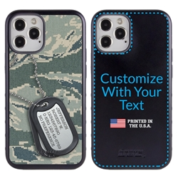 Military Case for iPhone 12 / 12 Pro – Hybrid - Silencer DogTag ABU Camo