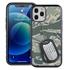 Military Case for iPhone 12 / 12 Pro – Hybrid - Silencer DogTag ABU Camo