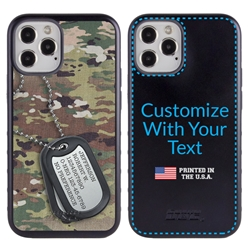 Military Case for iPhone 12 / 12 Pro – Hybrid - Silencer DogTag Ops Camo