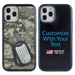 Military Case for iPhone 12 / 12 Pro – Hybrid - Silencer DogTag UCP Camo