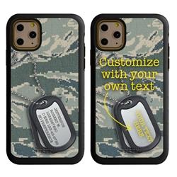 Military Case for iPhone 11 Pro Max – Hybrid - Silencer DogTag ABU Camo