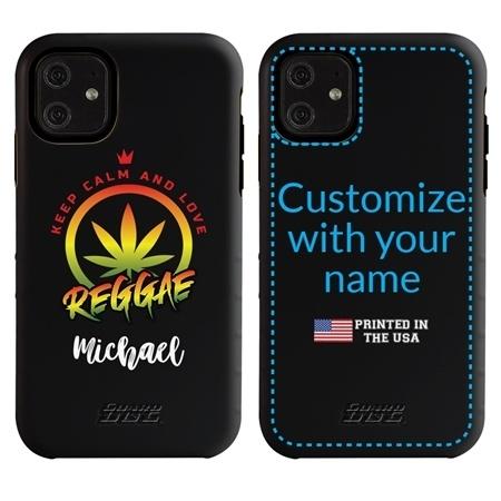 Funny Case for iPhone 11 – Hybrid - Reggae Keep Calm