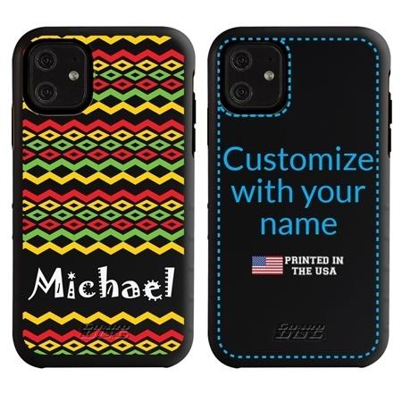 Funny Case for iPhone 11 – Hybrid - Reggae Pattern