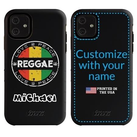 Funny Case for iPhone 11 – Hybrid - Vintage Reggae