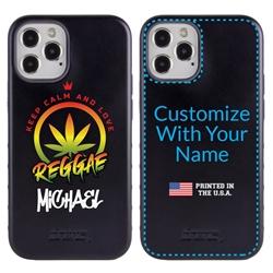 Funny Case for iPhone 12 / 12 Pro – Hybrid - Reggae Keep Calm