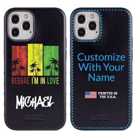 Funny Case for iPhone 12 / 12 Pro – Hybrid - Reggae Palms