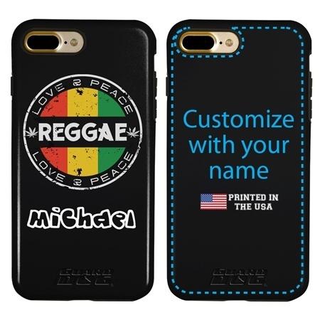 Funny Case for iPhone 7 Plus / 8 Plus – Hybrid - Vintage Reggae