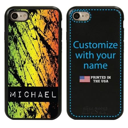 Funny Case for iPhone 7 / 8 / SE – Hybrid - Grunge Metal Reggae