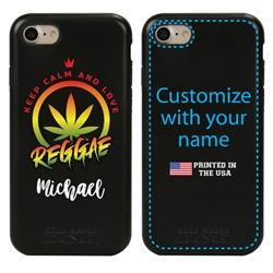 Funny Case for iPhone 7 / 8 / SE – Hybrid - Reggae Keep Calm