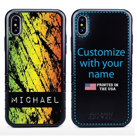 Funny Case for iPhone X / XS – Hybrid - Grunge Metal Reggae