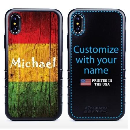 Funny Case for iPhone X / XS – Hybrid - Reggae Wood