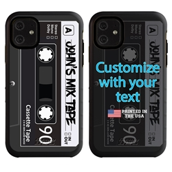 Funny Case for iPhone 11 – Hybrid - Mix Tape