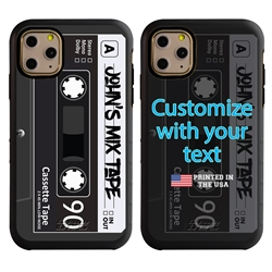 Funny Case for iPhone 11 Pro Max – Hybrid - Mix Tape