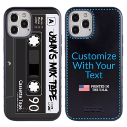 Funny Case for iPhone 12 / 12 Pro – Hybrid - Mix Tape