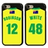 Personalized Australia Soccer Jersey Case for iPhone 7/8/SE – Hybrid – (Black Case, Black Silicone)