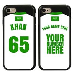 Personalized Saudi Arabia Soccer Jersey Case for iPhone 7/8/SE – Hybrid – (Black Case, Black Silicone)