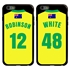 Personalized Australia Soccer Jersey Case for iPhone 6 Plus / 6s Plus – Hybrid – (Black Case, Black Silicone)