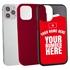 Personalized Tunisia Soccer Jersey Case for iPhone 12 / 12 Pro – Hybrid – (Black Case, Dark Blue Silicone)