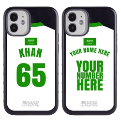 Personalized Saudi Arabia Soccer Jersey Case for iPhone 12 Mini – Hybrid – (Black Case, Black Silicone)