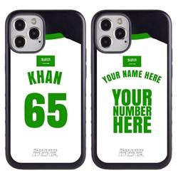 Personalized Saudi Arabia Soccer Jersey Case for iPhone 12 Pro Max – Hybrid – (Black Case, Black Silicone)