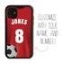 Custom Soccer Jersey Hybrid Case for iPhone 11 - (Black Case, Full Color Jersey)