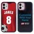 Custom Soccer Jersey Hybrid Case for iPhone 12 Mini - (Black Case, Full Color Jersey)