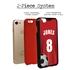 Custom Soccer Jersey Hybrid Case for iPhone 7/8/SE - (Black Case, Full Color Jersey)