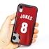 Custom Soccer Jersey Hybrid Case for iPhone XR - (Black Case, Full Color Jersey)