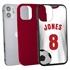 Custom Soccer Jersey Hybrid Case for iPhone 12 Mini - (Black Case, White Jersey)