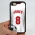 Custom Soccer Jersey Hybrid Case for iPhone 7/8/SE - (Black Case, White Jersey)
