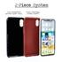 Custom Soccer Jersey Hybrid Case for iPhone XR - (Black Case, White Jersey)