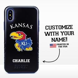Collegiate Case for iPhone X / XS  – Hybrid Kansas Jayhawks - Personalized