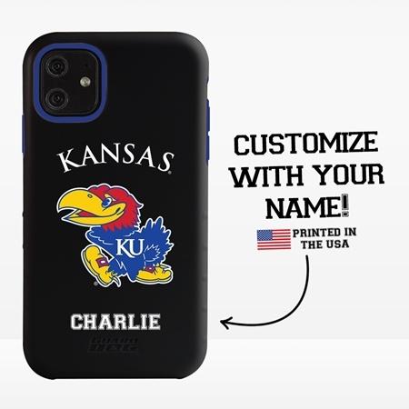 Collegiate Case for iPhone 11  – Hybrid Kansas Jayhawks - Personalized