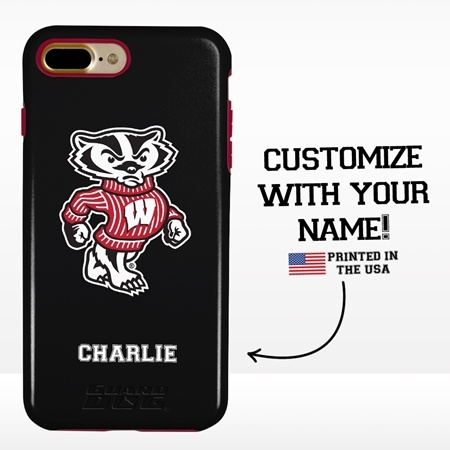 Collegiate Case for iPhone 7 Plus / 8 Plus  – Hybrid Wisconsin Badgers - Personalized