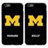 Collegiate Case for iPhone 6 Plus / 6s Plus – Hybrid Michigan Wolverines - Personalized