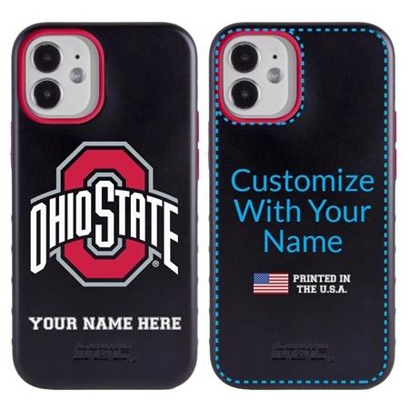 Collegiate Case for iPhone 12 Mini – Hybrid Ohio State Buckeyes - Personalized