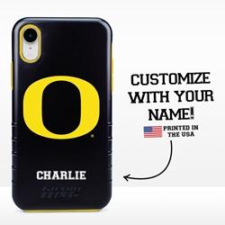 Collegiate Case for iPhone XR – Hybrid Oregon Ducks - Personalized