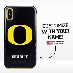 Collegiate Case for iPhone XS Max – Hybrid Oregon Ducks - Personalized