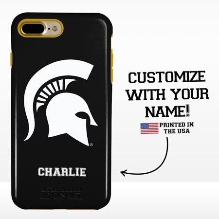 Collegiate Case for iPhone 7 Plus / 8 Plus – Hybrid Michigan State Spartans - Personalized